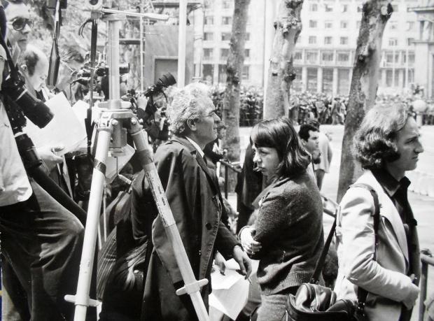 Dušan Bogavac na novinarskom zadatku osamdesetih